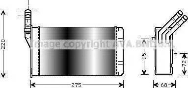 Nissens 71156 - Heat Exchanger, interior heating uk-carparts.co.uk