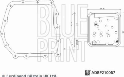 Blue Print ADBP210067 - Hydraulic Filter Set, automatic transmission uk-carparts.co.uk