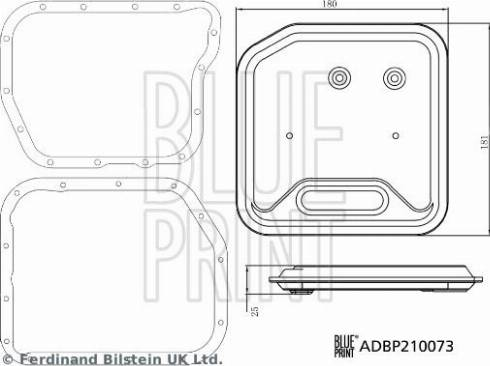 Blue Print ADBP210073 - Hydraulic Filter Set, automatic transmission uk-carparts.co.uk