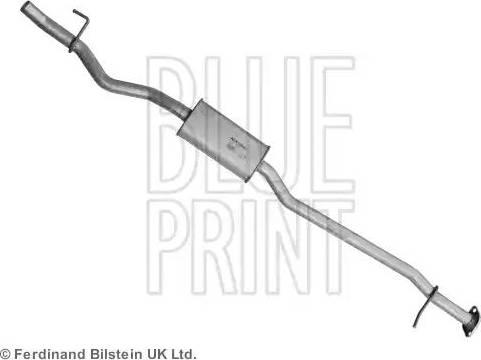 Blue Print ADN16020 - Middle Silencer uk-carparts.co.uk