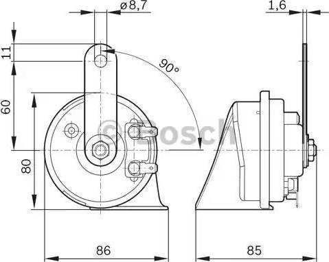 BOSCH 9320335007 - Air/Electric Horn uk-carparts.co.uk