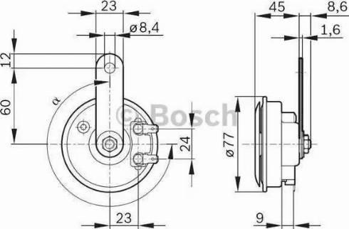 BOSCH 9320332803 - Air Horn uk-carparts.co.uk