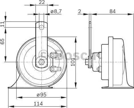 BOSCH 0986AH0501 - Air/Electric Horn uk-carparts.co.uk