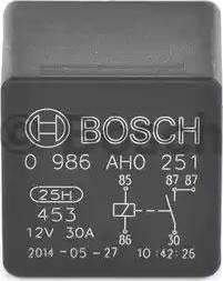 BOSCH 0986AH0251 - Relay, cooling fan uk-carparts.co.uk