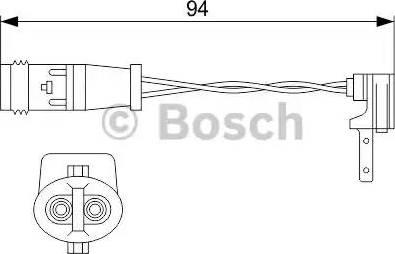 BOSCH 1987474553 - Warning Contact, brake pad wear uk-carparts.co.uk