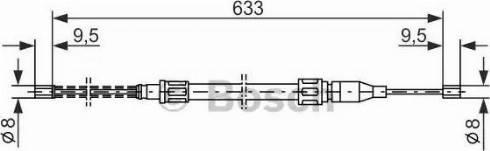 BOSCH 1987477043 - Cable, parking brake uk-carparts.co.uk