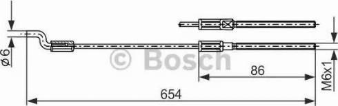BOSCH 1987477833 - Cable, parking brake uk-carparts.co.uk