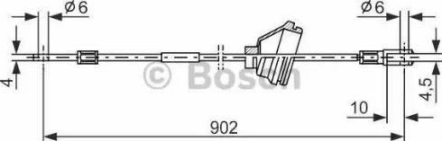 BOSCH 1987477349 - Cable, parking brake uk-carparts.co.uk