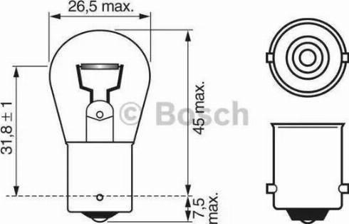 BOSCH 1987302501 - Bulb, stop light uk-carparts.co.uk