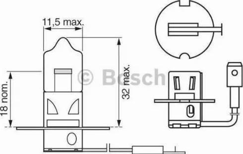 BOSCH 1987302031 - Bulb, fog light uk-carparts.co.uk