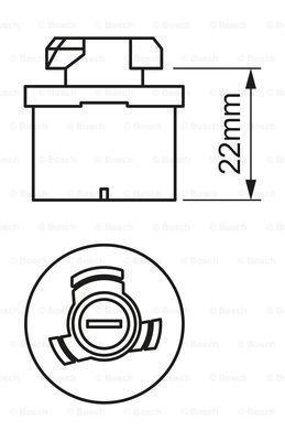 BOSCH 1987302024 - Bulb, fog light uk-carparts.co.uk