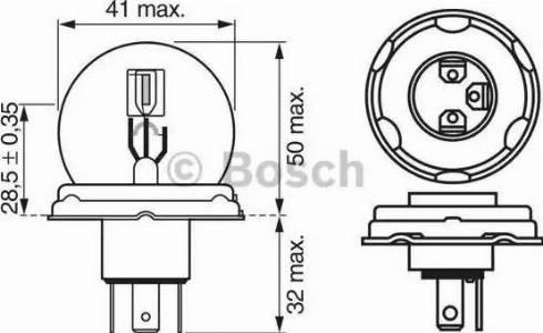 BOSCH 1987302023 - Bulb, fog light uk-carparts.co.uk