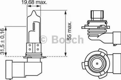 BOSCH 1987302153 - Bulb, fog light uk-carparts.co.uk