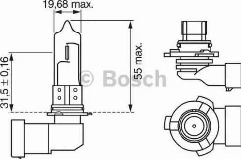 BOSCH 1987302152 - Bulb, fog light uk-carparts.co.uk