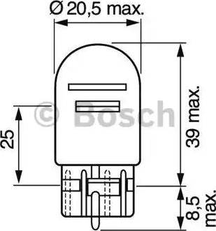 BOSCH 1987302252 - Bulb, park-/position light uk-carparts.co.uk