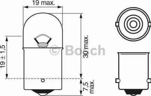 BOSCH 1987302284 - Bulb, park-/position light uk-carparts.co.uk