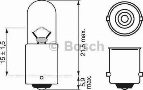 BOSCH 1987302207 - Bulb, park-/position light uk-carparts.co.uk