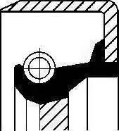 Corteco 12011539B - Shaft Seal, countershaft uk-carparts.co.uk