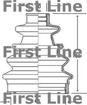 First Line FCB2040 - Bellow, driveshaft uk-carparts.co.uk