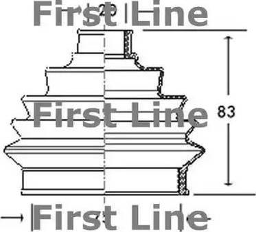 First Line FCB2004 - Bellow, driveshaft uk-carparts.co.uk