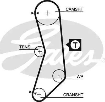 Gates 5030FI - Timing Belt uk-carparts.co.uk