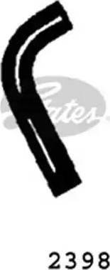 Gates 2398 - Radiator Hose uk-carparts.co.uk