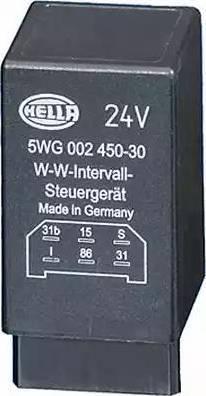 HELLA 5WG002450-301 - Relay, wipe-/wash interval uk-carparts.co.uk