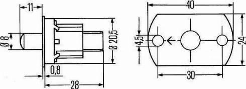 HELLA 6ZF003549-001 - Switch, door contact uk-carparts.co.uk