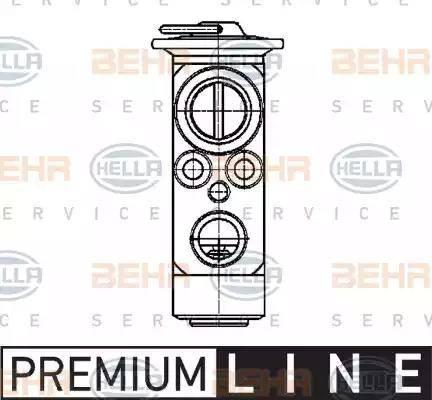 HELLA 8UW351239-401 - Expansion Valve, air conditioning uk-carparts.co.uk