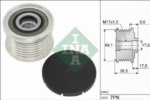 INA 535034410 - Alternator Freewheel Clutch uk-carparts.co.uk