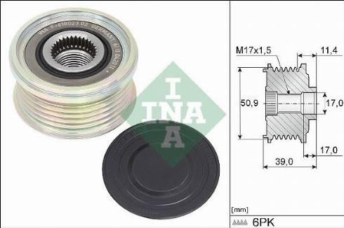 INA 535035810 - Alternator Freewheel Clutch uk-carparts.co.uk