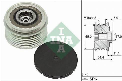 INA 535035710 - Alternator Freewheel Clutch uk-carparts.co.uk
