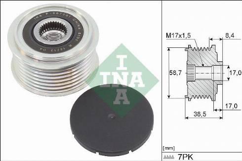 INA 535031810 - Alternator Freewheel Clutch uk-carparts.co.uk