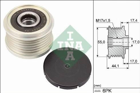 INA 535031210 - Alternator Freewheel Clutch uk-carparts.co.uk