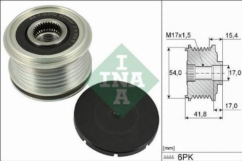 INA 535031710 - Alternator Freewheel Clutch uk-carparts.co.uk