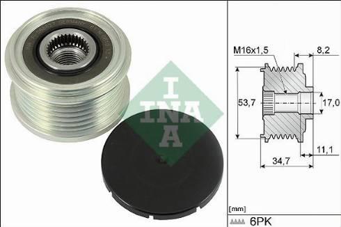 INA 535032710 - Alternator Freewheel Clutch uk-carparts.co.uk