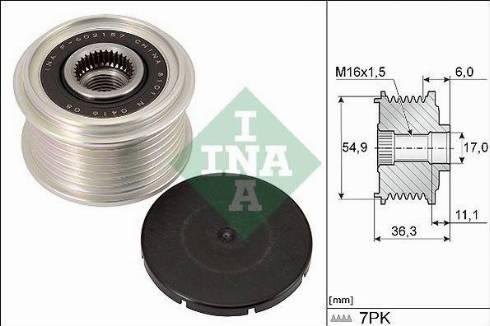 INA 535029810 - Alternator Freewheel Clutch uk-carparts.co.uk