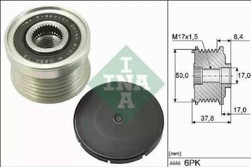 INA 535029210 - Alternator Freewheel Clutch uk-carparts.co.uk