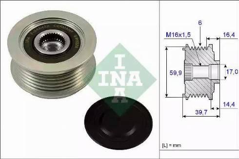 INA 535024110 - Alternator Freewheel Clutch uk-carparts.co.uk