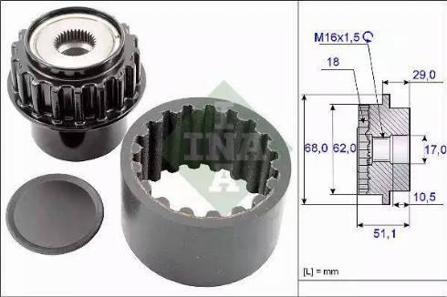 INA 535020610 - Flexible Coupling Sleeve Kit uk-carparts.co.uk