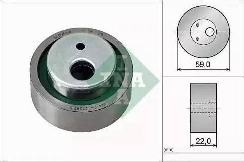 INA 531003010 - Tensioner Pulley, timing belt uk-carparts.co.uk