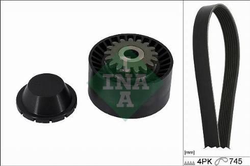 INA 529040810 - V-Ribbed Belt Set uk-carparts.co.uk
