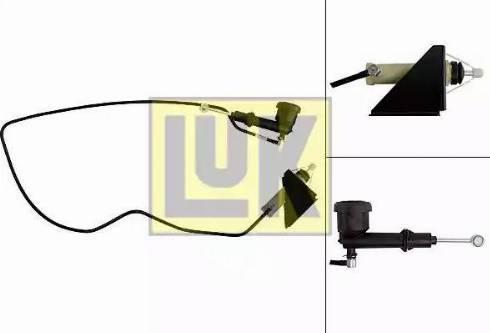LUK 513002710 - Master / Slave Cylinder Kit, clutch uk-carparts.co.uk