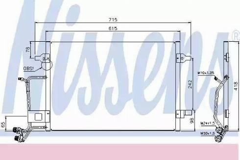 Nissens 94594 - Condenser, air conditioning uk-carparts.co.uk