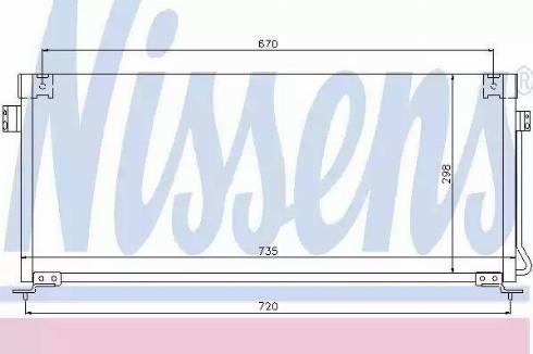 Nissens 94507 - Condenser, air conditioning uk-carparts.co.uk