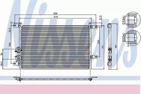 Nissens 94526 - Condenser, air conditioning uk-carparts.co.uk