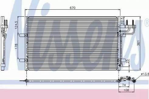 Nissens 94663 - Condenser, air conditioning uk-carparts.co.uk