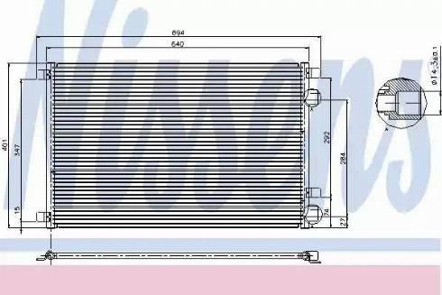 Nissens 94626 - Condenser, air conditioning uk-carparts.co.uk