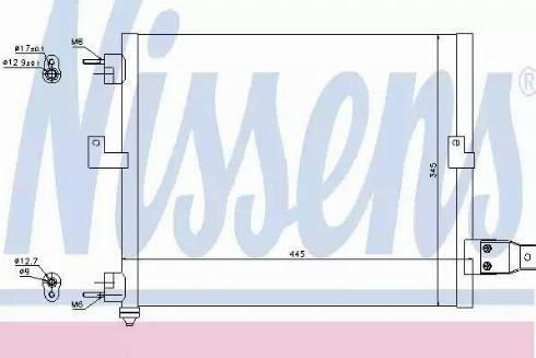 Nissens 94036 - Condenser, air conditioning uk-carparts.co.uk