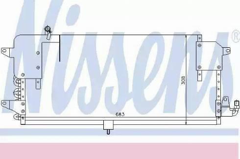 Nissens 94174 - Condenser, air conditioning uk-carparts.co.uk